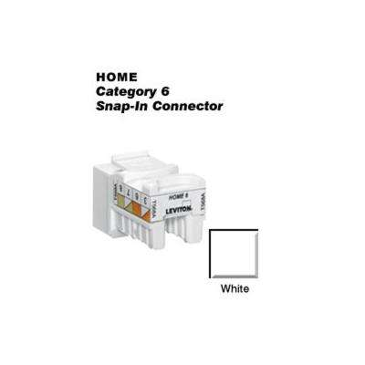 QuickPort CAT 6 Snap-In T568A/B Wiring Connector, White