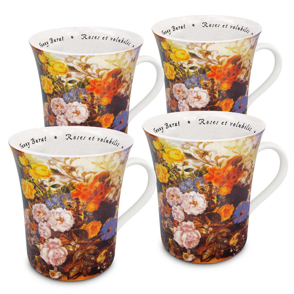 Konitz 4-Piece Les Fleur Chez Les Peintres Burat Porcelain Mug Set