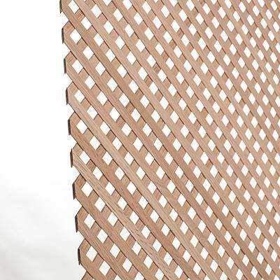 23-5/8 in. x 47-1/4 in. x 1/8 in. Unfinished Diagonal Solid North American Red Oak Mini Lattice Panel Insert