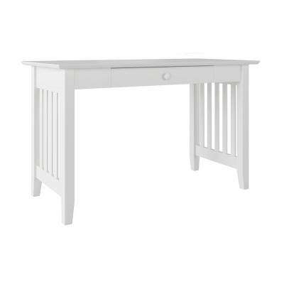 Mission White Desk with Drawer