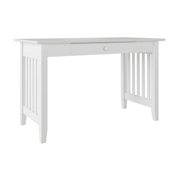 Atlantic Furniture Mission White Desk with Drawer AH12212