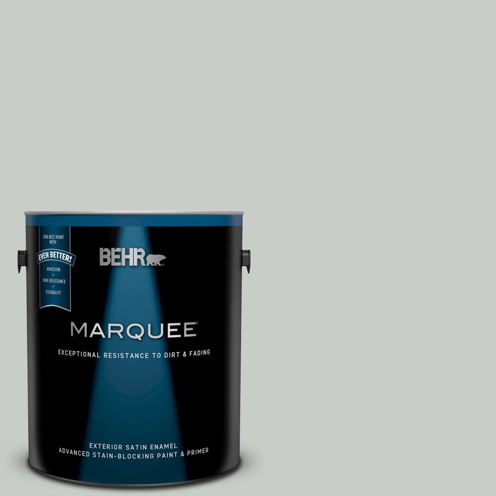 Behr Marquee 1 Gal Pwl 89 Silver Setting Satin Enamel Exterior Paint And Primer In One 945001 The Home Depot