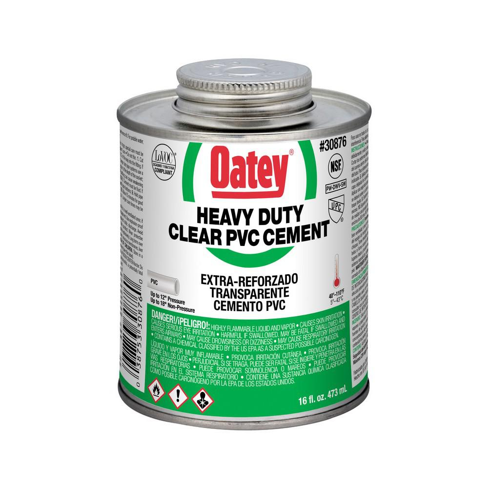 16 oz pvc heavy duty cement 308763 the home depot for Cement cleaning products