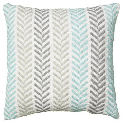 Altair Turquoise Geometric Hypoallergenic Polyester 18 in. x 18 in. Throw Pillow