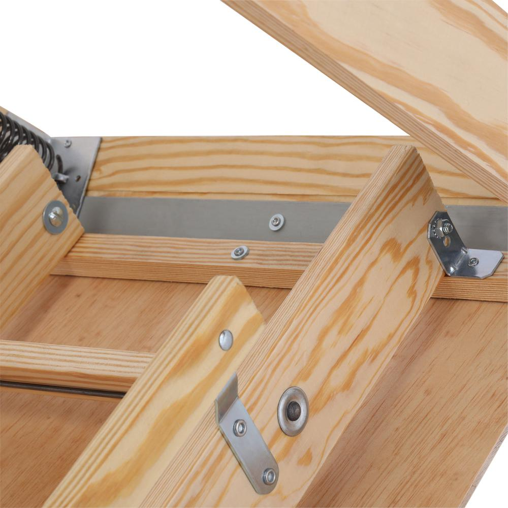 Attic Ladder Pull Down Folding Stairs Wood Steps Ceiling