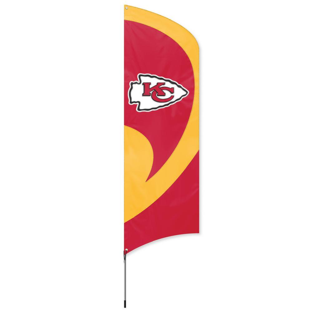 Kansas City Chiefs Tall Team Flag