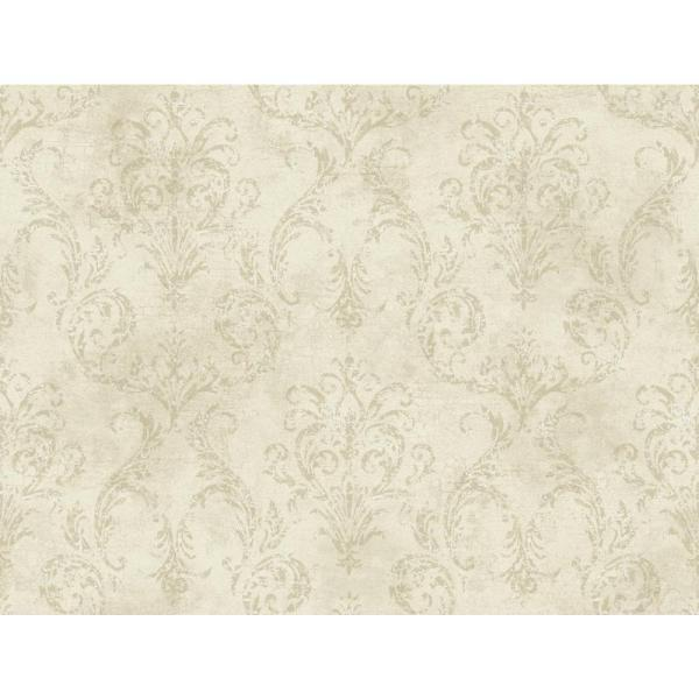 York Wallcoverings Delia Damask Raised Print Wallpaper GL4655