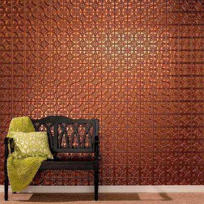 96 in. x 48 in. Traditional 1 Decorative Wall Panel in Oil Rubbed Bronze