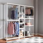 Baxton Studio Gavin White Storage Rack with 10-Metal Shelves