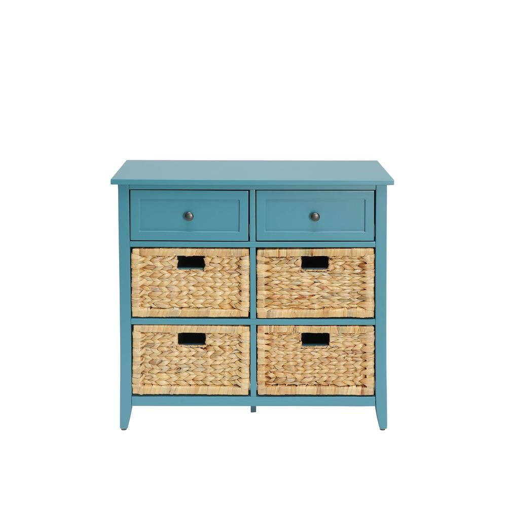 ACME Furniture Flavius Teal 6 Drawers Accent Chest-97418 - The Home ...