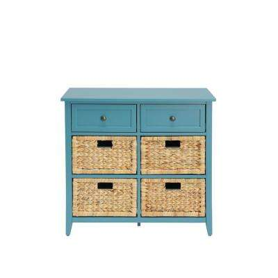 Flavius Teal 6 Drawers Accent Chest