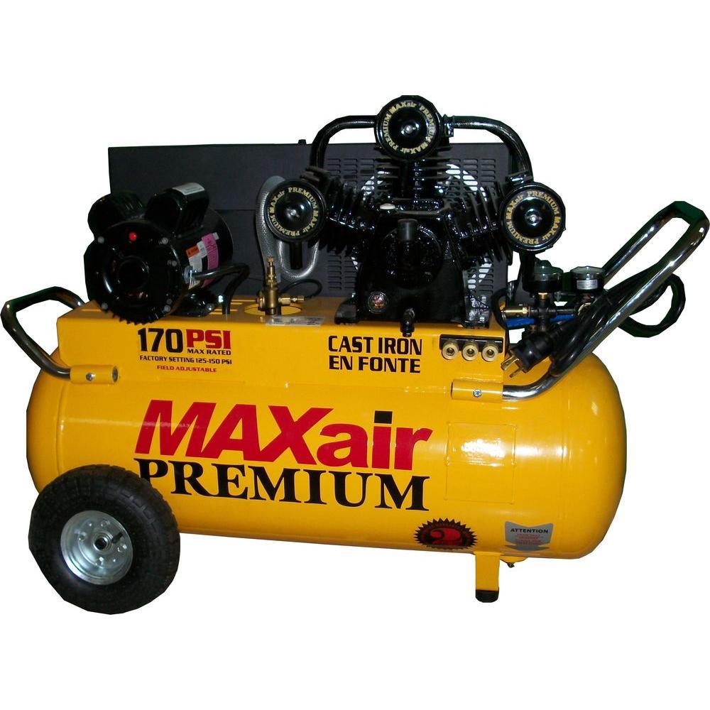 Maxair 25-Gal. Portable Electric Powered Air Compressor