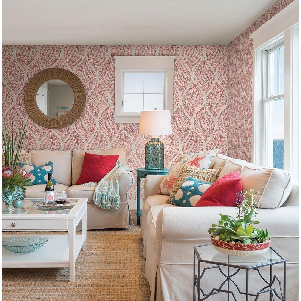 Arboretum Pink Fern Wallpaper