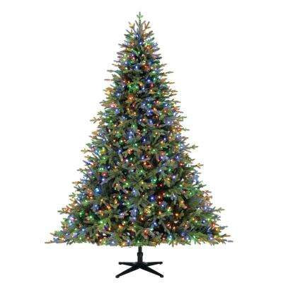Pre Lit Rotating Christmas Tree.7 5 Ft Pre Lit Led Spruce Artificial Christmas Tree With 900 Color Changing Lights