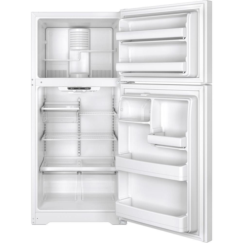 Surprising Ge 18 2 Cu Ft Top Freezer Refrigerator In White Energy Star Interior Design Ideas Apansoteloinfo