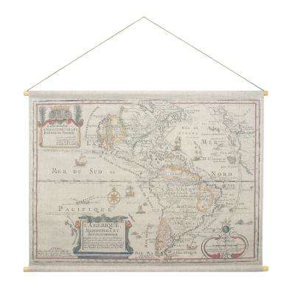 L'Amerique Hanging Linen Tapestry
