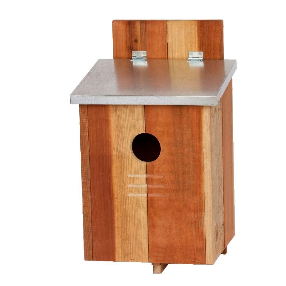 null Redwood Screech Owl Bird House