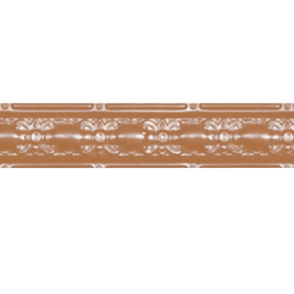Shanko 4 in. x 4 ft. Satin Copper Nail-up/Direct Applicat...