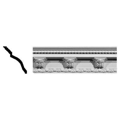 5-1/4 in. x 5-1/4 in. x 94-1/2 in. Polyurethane Attica Acanthus Leaf Crown Moulding