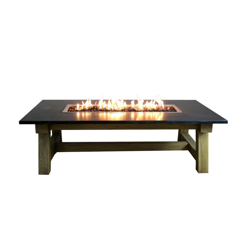 elementi workshop coffee 36 in x 17 in rectangular concrete natural gas fire pit table with. Black Bedroom Furniture Sets. Home Design Ideas