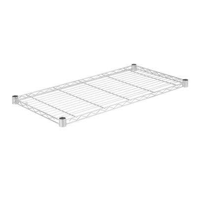 36 in. W x 18 in. D 350 lbs. Steel Shelf in Chrome