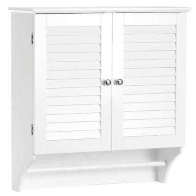 Ellsworth 23-41/50 in. W x 25 in. H x 8-43/50 in. D Bathroom Storage Wall Cabinet in White