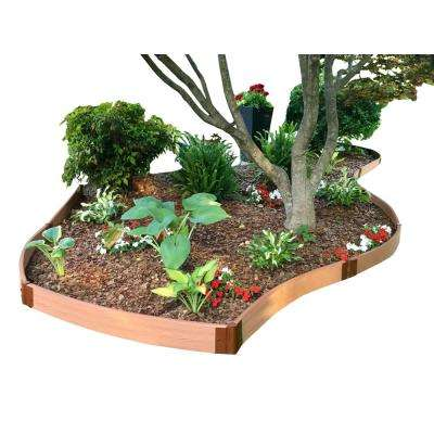 Two Inch Series 16 Ft X 5 In Clic Sienna Backyard Border Curved Kit