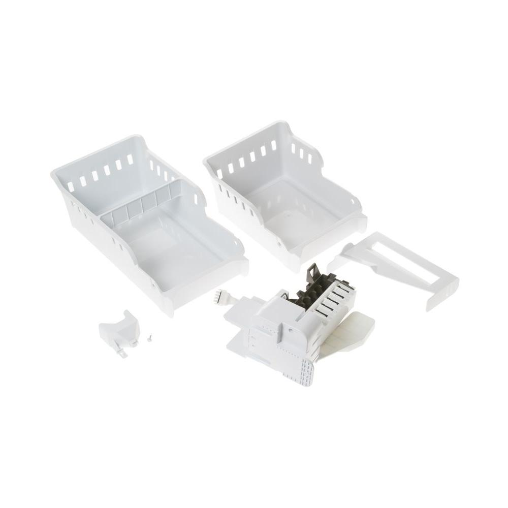 optional second ice maker kit in white for ge bottom freezers