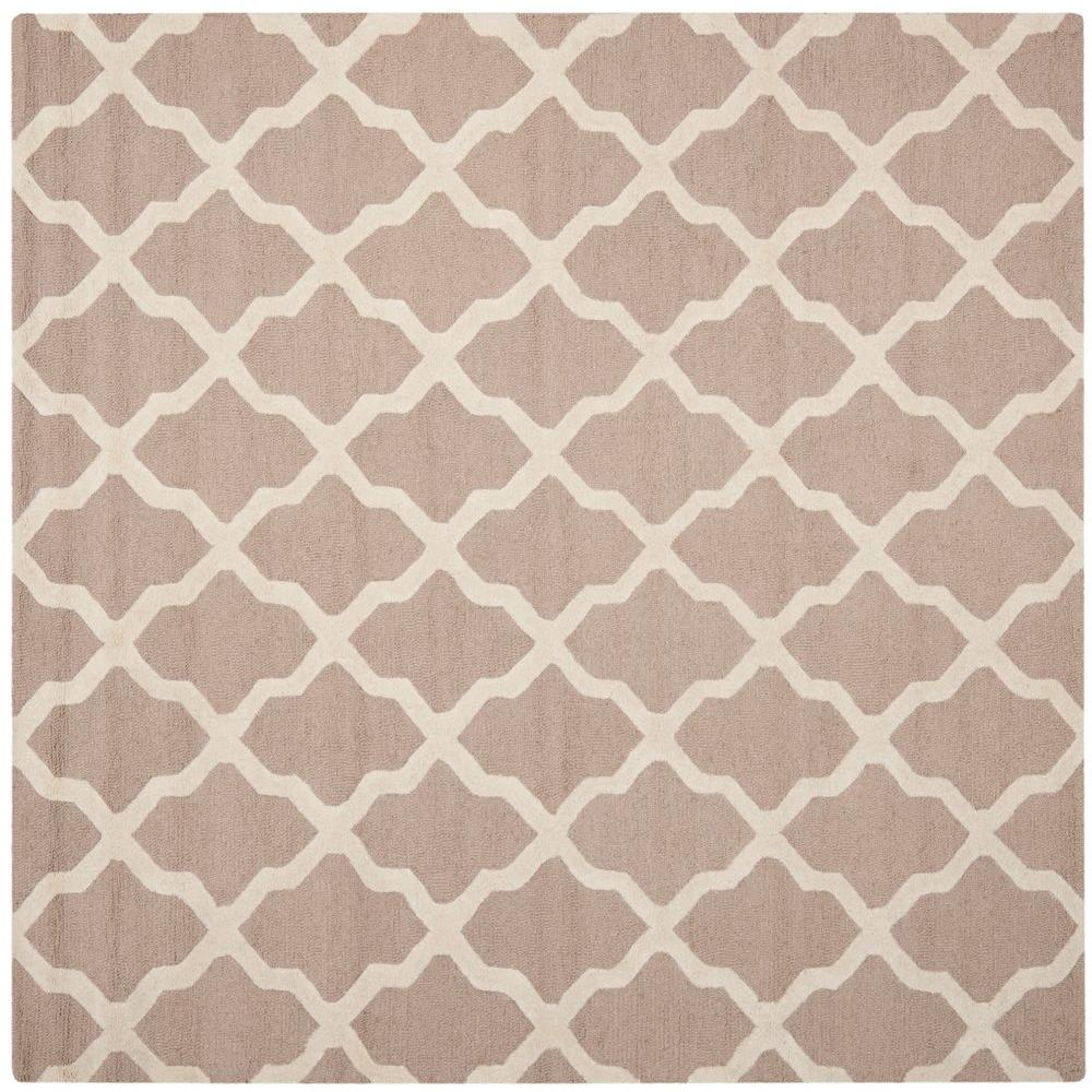 Cambridge Beige/Ivory 6 ft. x 6 ft. Square Area Rug