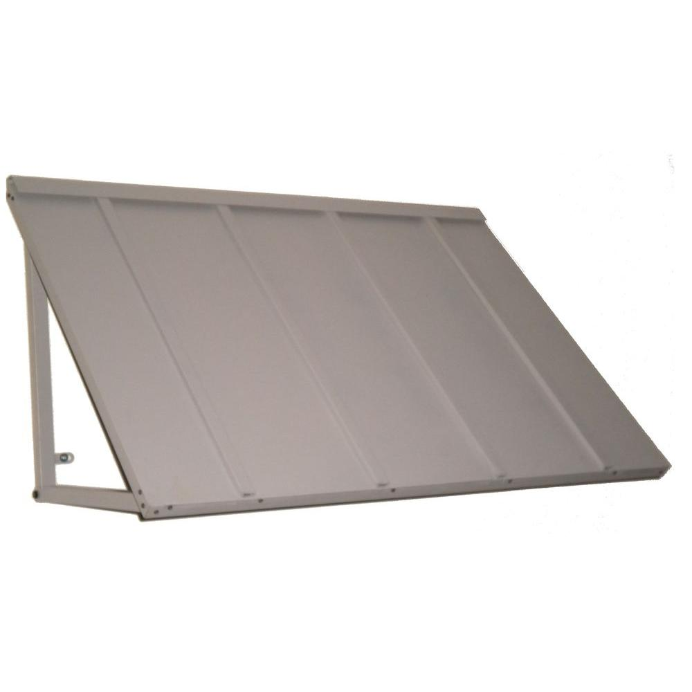 Beauty-Mark Awntech's 5 ft. Houstonian Metal Standing Seam Awnings (68 in. W x 24 in. H x 24 in. D) in Dove Gray