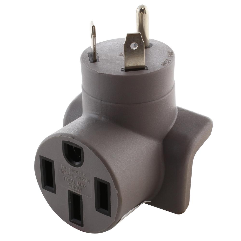 AC WORKS EVSE Charging Adapter RV TT-30P 30 Amp Plug to 50 Amp Electric Vehicle Adapter for Tesla Model S
