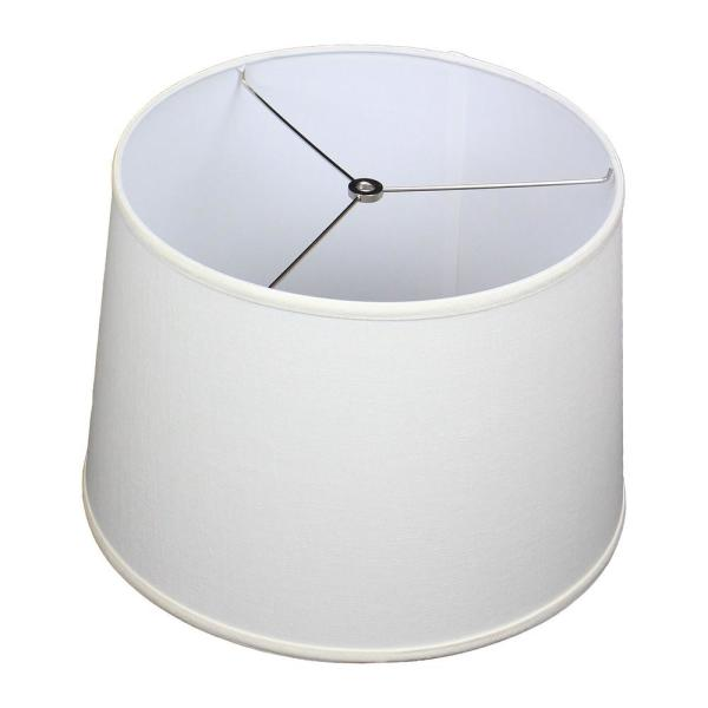 14 in. Top Diameter x 16 in. Bottom Diameter x 11 in. Slant Designer Linen Off White Empire Lamp Shade