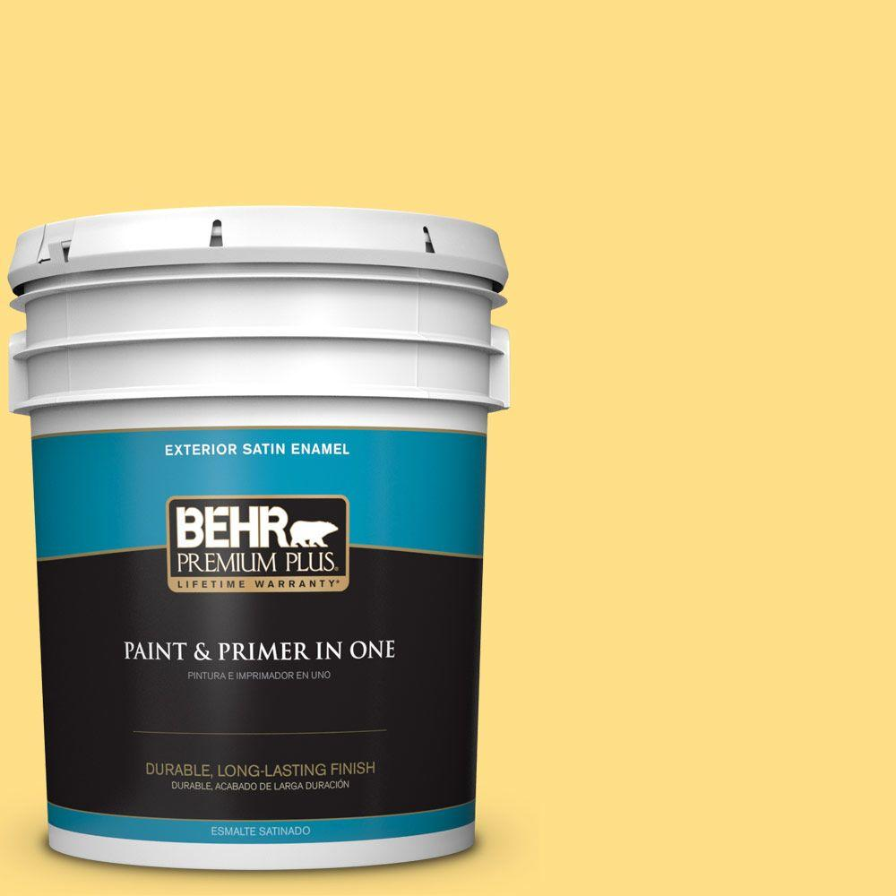5-gal. #360B-4 Sweet Chamomile Satin Enamel Exterior Paint