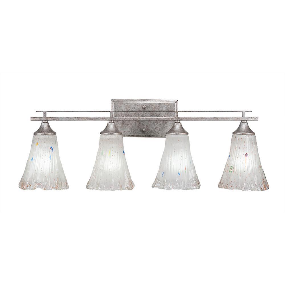 4-Light Aged Silver Bath Light