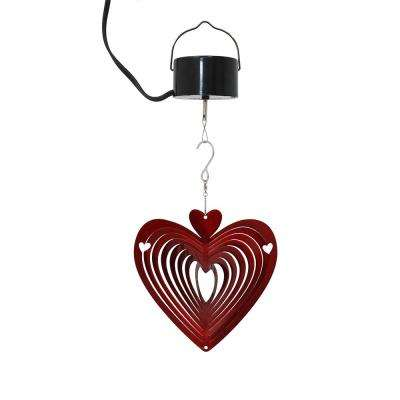 Heart 6 in. Whirligig Wind Spinner with Electric-Operated Motor