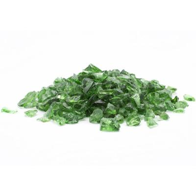 1/2 in. 10 lb. Medium Green Landscape Fire Glass