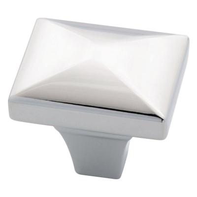 Beverly 1-1/8 in. (28mm) Polished Chrome Rectangular Cabinet Knob