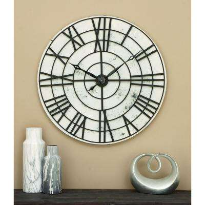 32 in. Metal Wall Clock