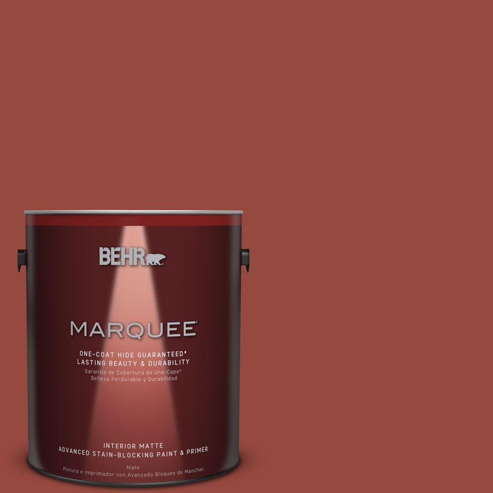 1 gal. #MQ1-24 Smokin Hot One-Coat Hide Matte Interior Paint