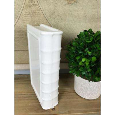 White Small Ceramic Bookend