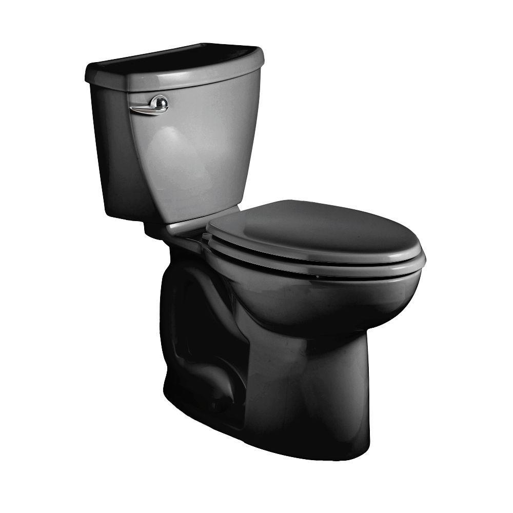 American Standard Cadet 3 Powerwash Right Height 2-piece 1.6 GPF Elongated Toilet in Black