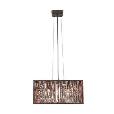 Saynsberry 4-Light Espresso Chrome Pendant