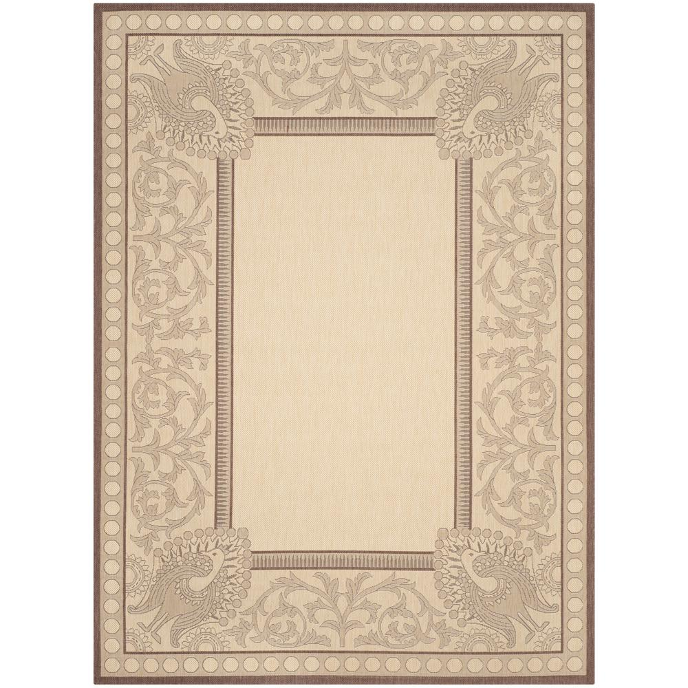 Safavieh Courtyard Natural/Chocolate 8 ft. x 11 ft. Indoor/Outdoor Area Rug