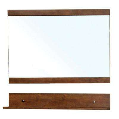 Lawson 34 in. L x 44 in. W Wall Mirror Cabinet in Walnut