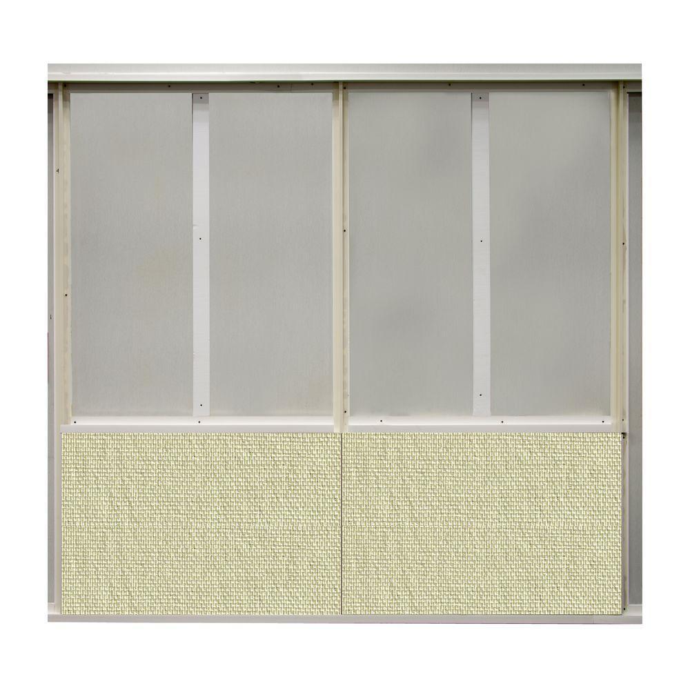 20 sq. ft. Glitter Fabric Covered Bottom Kit Wall Panel