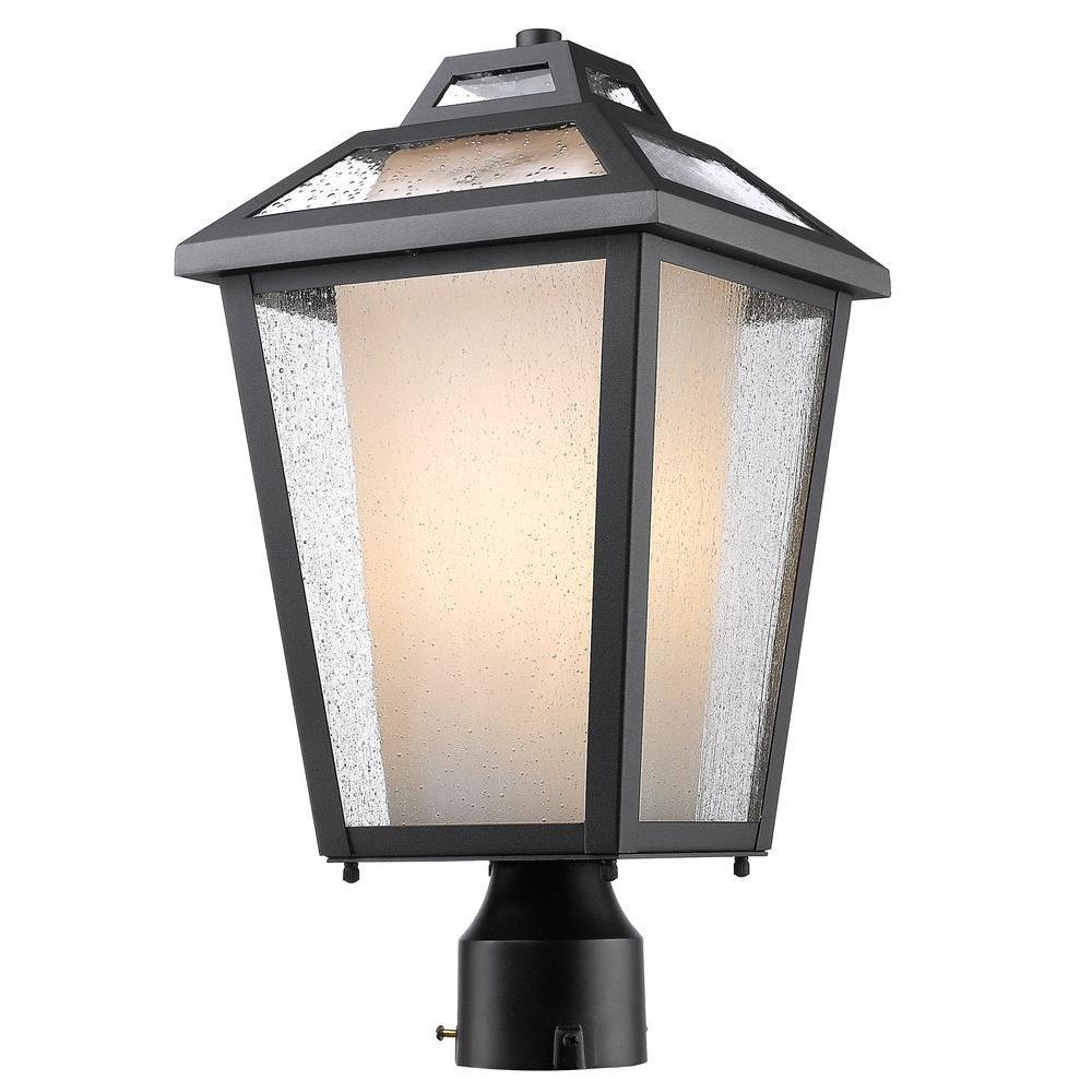 Arnett 1-Light Outdoor Black Post Mount