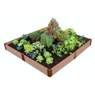 One Inch Series 8 ft. x 8 ft. x 11 in. Classic Sienna Composite Raised Garden Bed Kit
