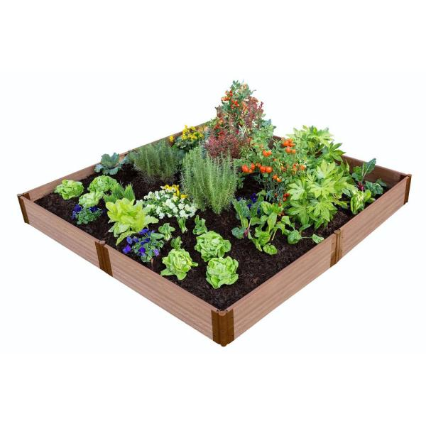 Frame It All Classic Sienna Raised Garden Bed 8 X 8 X 11 1 Profile 300001068 The Home Depot