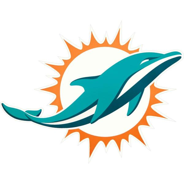Wholesale Applied Icon NFL Miami Dolphins Outdoor Logo Graphic Large NFOP1803  hot sale