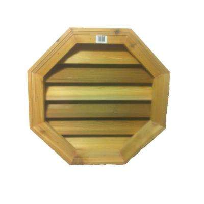 Octagon Cedar Wood Louver Gable Vent